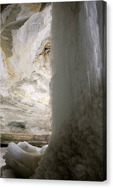 Ice Caves Canvas Print - Ice Fall by Nancy Dinsmore