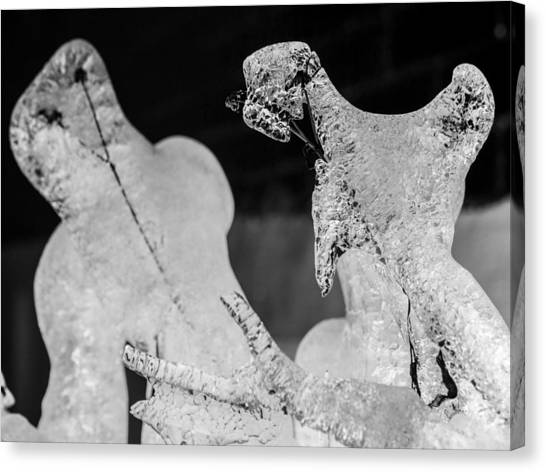 Ice Fight Canvas Print by Carl Engman