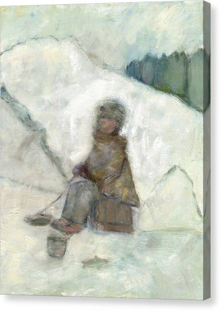 Ice Fishing Canvas Print