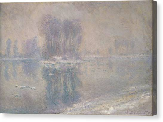 The Metropolitan Museum Of Art Canvas Print - Ice Floes by Claude Monet