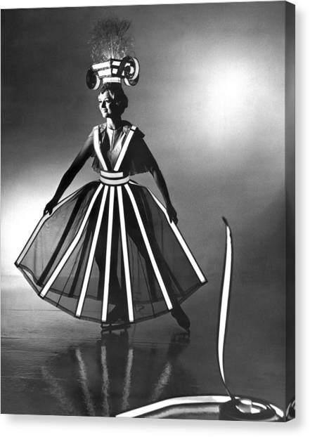Follies Canvas Print - Ice Follies Lighting Costumes by Underwood Archives
