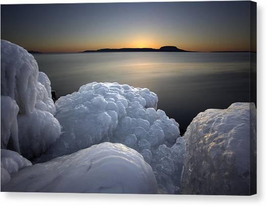 Sleeping Giant Canvas Print - Ice Formations Before Sunrise by Jakub Sisak