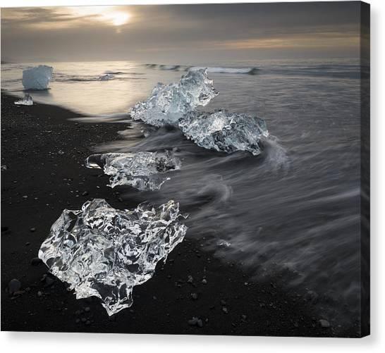 Vatnajokull Glacier Canvas Print - Ice From Vatnajokull Glacier Iceland by Rob Brown
