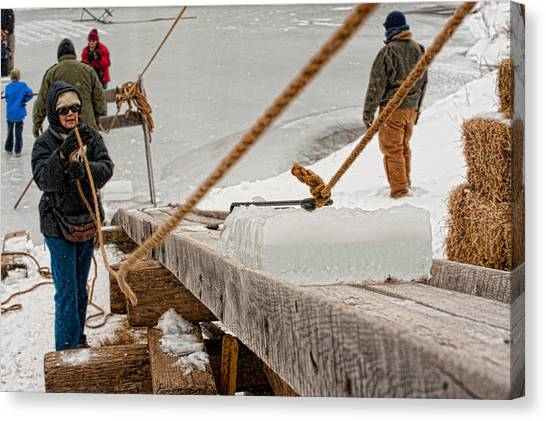 Ice Harvest Canvas Print