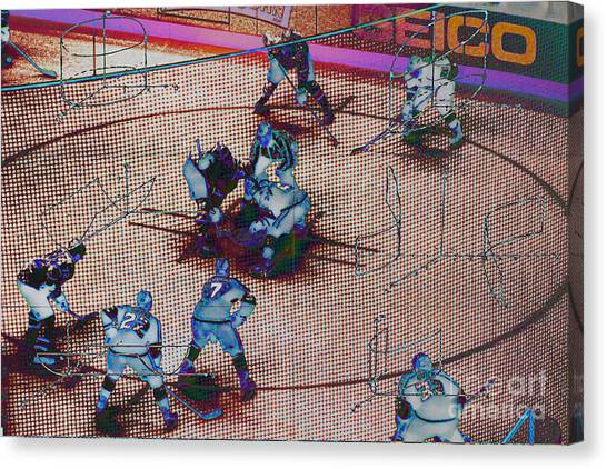 Los Angeles Kings Canvas Print - Ice Hockey Angles by RJ Aguilar