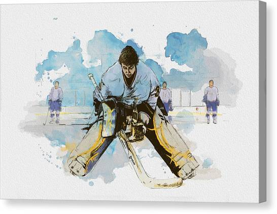 Vancouver Canucks Canvas Print - Ice Hockey by Corporate Art Task Force