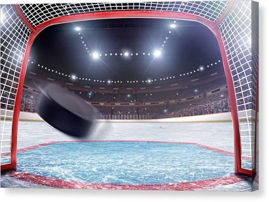 Ice Hockey Goal Canvas Print by Dmytro Aksonov
