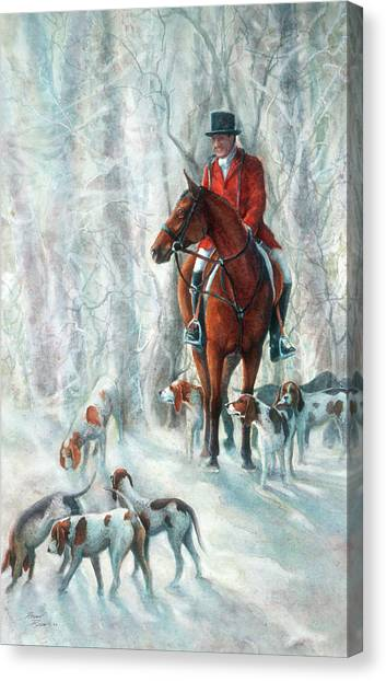 Ice Hounds Canvas Print by Robyn Ryan