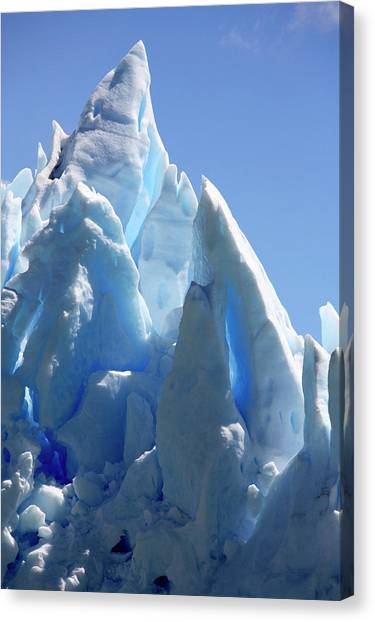 Perito Moreno Glacier Canvas Print - Ice Peaks On A Glacier by Steve Allen/science Photo Library