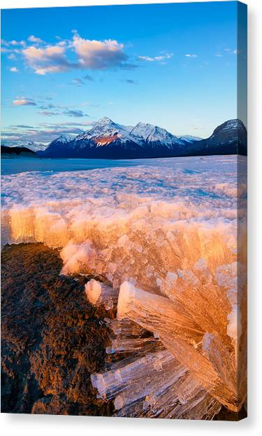 Ice Pillars Canvas Print