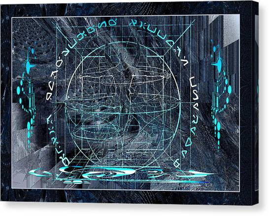 Ice Planet Glyph Canvas Print