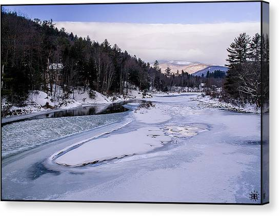 Ice River Canvas Print by Christine Nunes