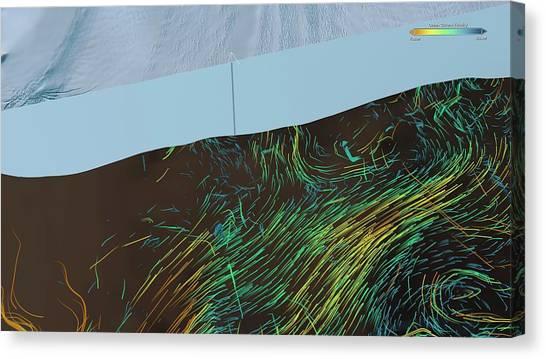Glacier Bay Canvas Print - Ice Shelf Ocean Currents by Nasa/goddard Space Flight Center Scientific Visualization Studio