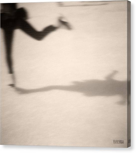 Ice Skating Canvas Print - Ice Skater by Beverly Brown Prints