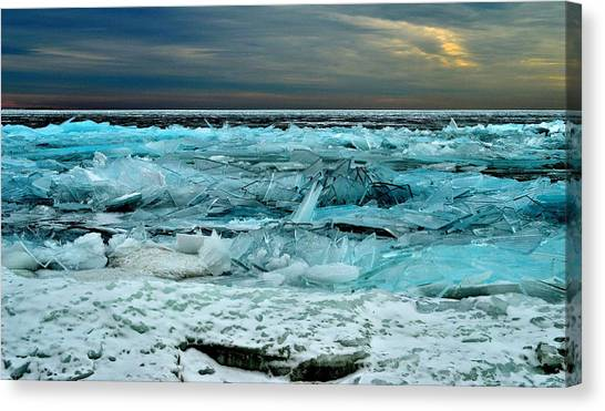 Ice Storm # 3 - Battery Bay - Kingston - Canada Canvas Print