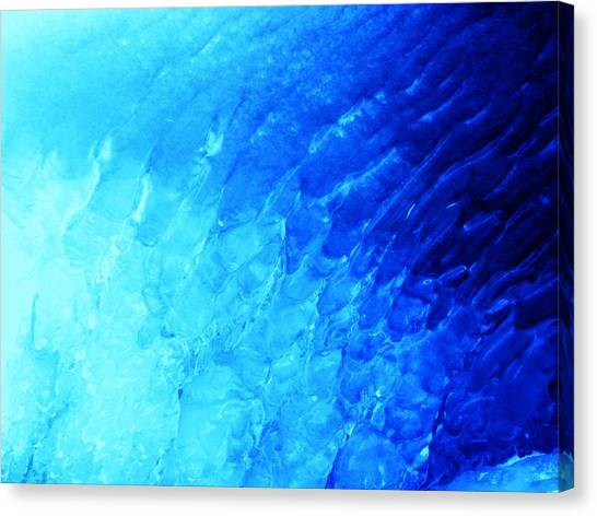 Ice Wave Canvas Print by Christian Rooney
