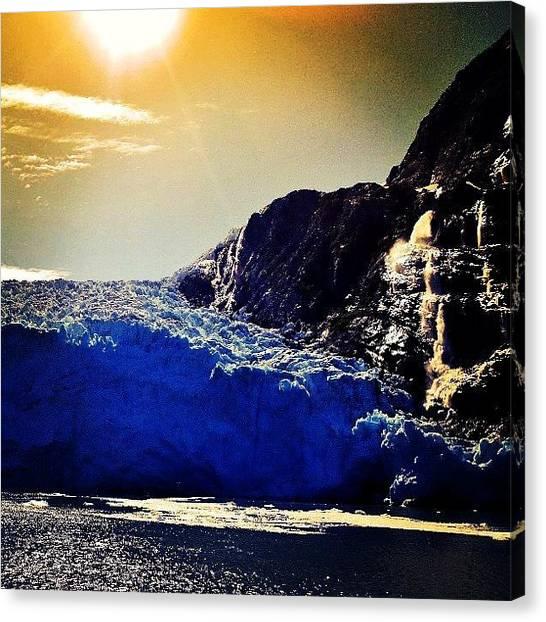 Glaciers Canvas Print - #iceberg #alaska #glacier #whittier by Ken SF