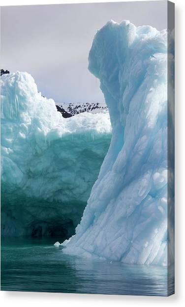 Ice Caves Canvas Print - Iceberg Cave by Mikkel Juul Jensen