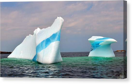 Iceberg Off The Coast Of Newfoundland Canvas Print