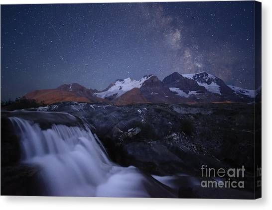 Icefields At Night Canvas Print