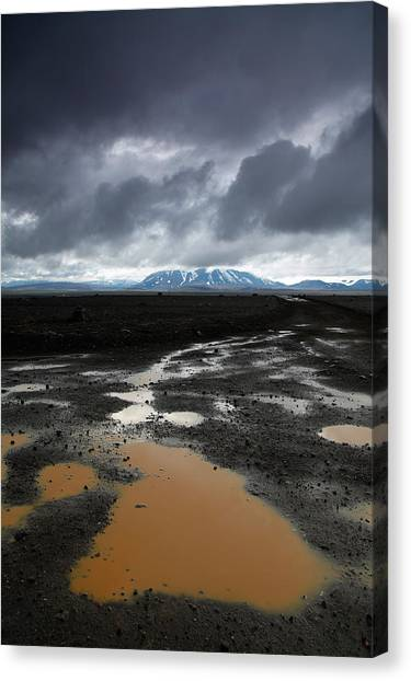 Offroading Canvas Print - Iceland After The Rain by Nina Papiorek