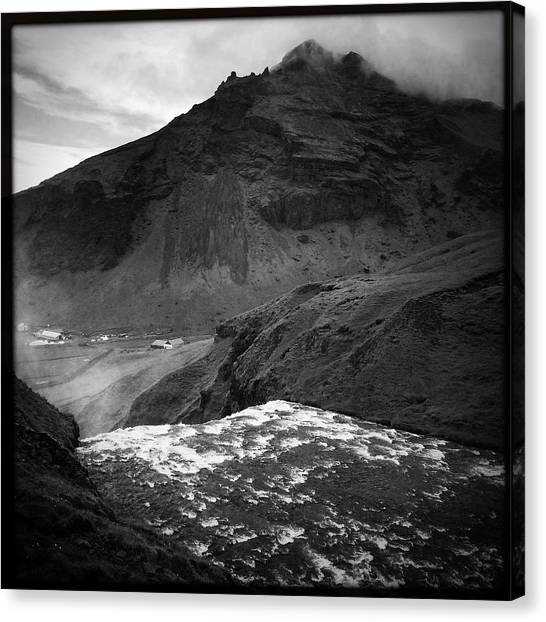 Rivers Canvas Print - Iceland Black And White Square Format by Matthias Hauser