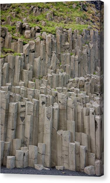 Beach Cliffs Canvas Print - Iceland Columnar Basalt Formation by Jaynes Gallery