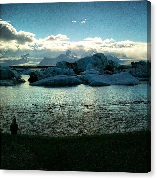 Glaciers Canvas Print - #iceland #ice #icebergs #icelagoon by Oprea George