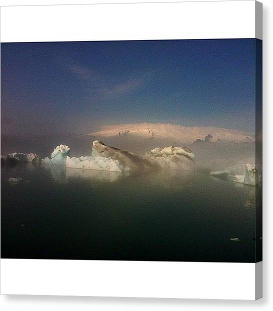 Glaciers Canvas Print - #iceland #icebergs #ice #lagoon #blue by Oprea George
