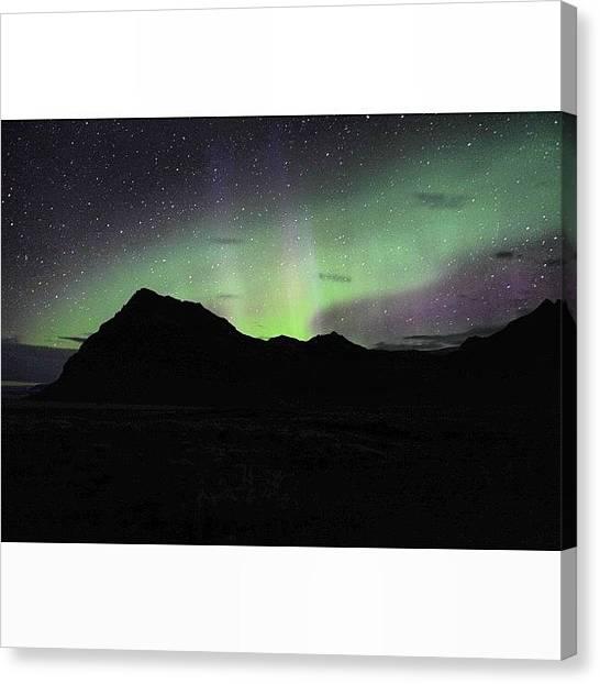 Aurora Borealis Canvas Print - #iceland #icelandic #aurora #borealis by Oprea George