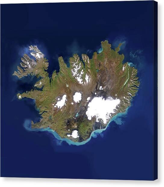 Vatnajokull Glacier Canvas Print - Iceland by Planetobserver/science Photo Library
