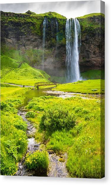 Seljalandsfoss Canvas Print - Iceland Seljalandsfoss Waterfall by Matthias Hauser