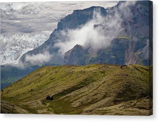 Vatnajokull Glacier Canvas Print - Icelandic Landscape With Vatnajokull by Arthur Meyerson