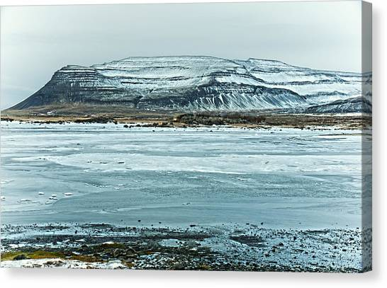 Icelandic Winter Landscape Canvas Print