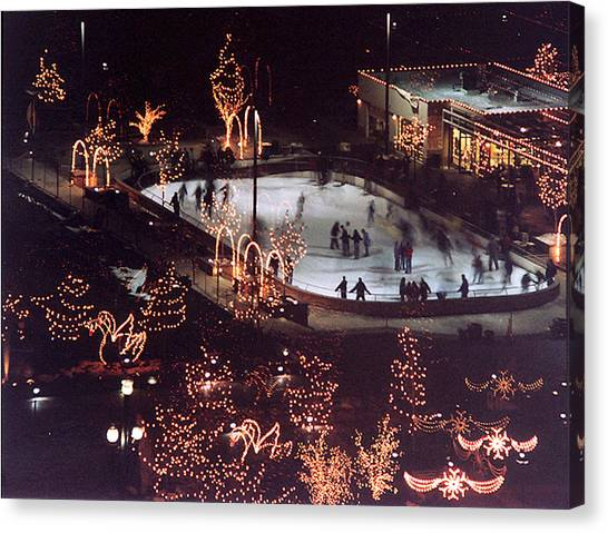 Icer Skaters Canvas Print