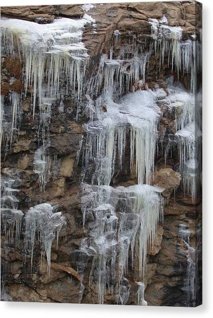 Icicle Cliffs Canvas Print