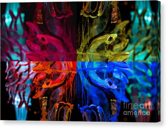 Icicle Mosaic Canvas Print