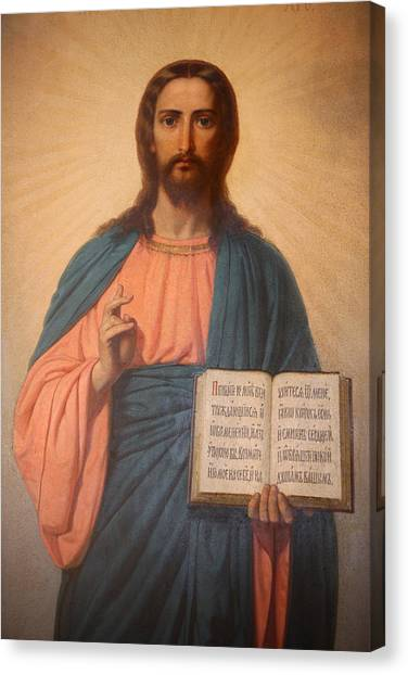 Messiah Canvas Print - Icon In St Stephen's Bulgarian Church  by Unknown