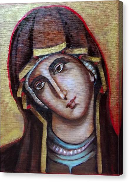 Icon Of Virgin Mary Canvas Print