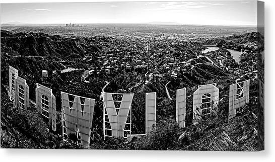 Los Angeles Skyline Canvas Print - Iconic Hollywood  by Art K