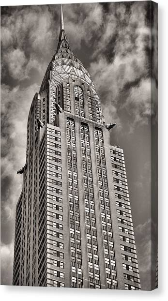 Chrysler Building Canvas Print - Iconic  by JC Findley