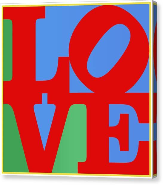 Iconic Love Canvas Print