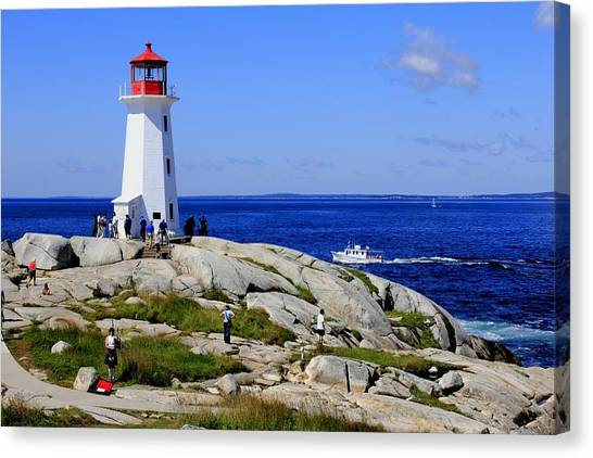 Iconic Peggy's Cove Lighthouse Nova Scotia Canada Canvas Print