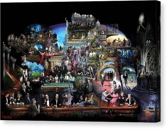 History Canvas Print - Icons Of History And Entertainment by Ylli Haruni