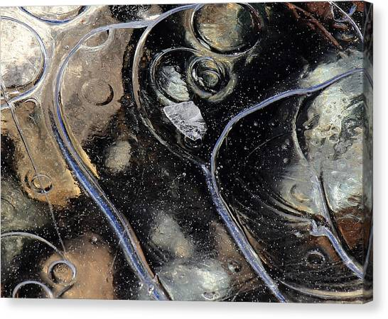 Icy Bubbles Canvas Print