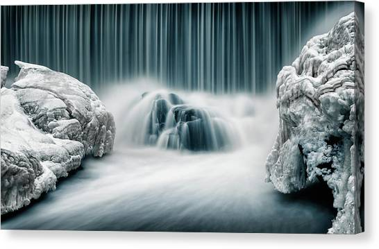 Waterfalls Canvas Print - Icy Falls by Keijo Savolainen
