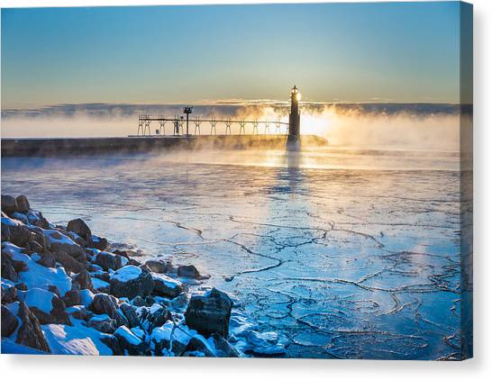 Icy Morning Mist Canvas Print