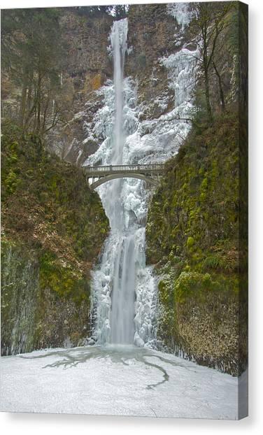 Icy Multnomah Falls 120713a Canvas Print