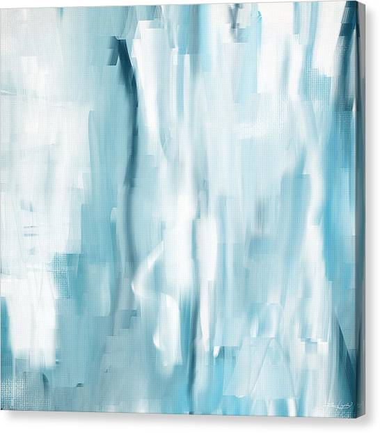 Abstract Seascape Canvas Print - Icy Passion by Lourry Legarde