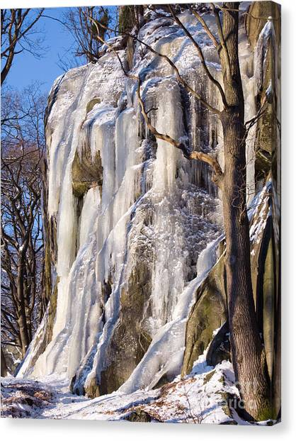 Icy Rocks Canvas Print by Lutz Baar